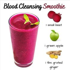 Beet Smoothie, Smoothie Cleanse, Smoothie Drinks, Cleansing Smoothies, Keto Smoothie Recipes, Yummy Smoothies, Healthy Recipes, Healthy Juices, Healthy Drinks