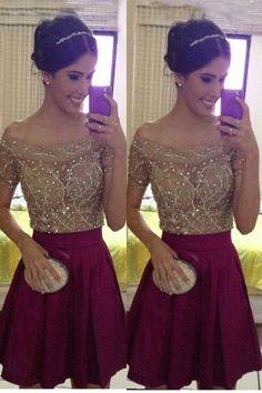 Sexy Prom Dress,Off Shoulder Prom Dress,Short Prom Dress,Mini Prom Gown,Cocktail…