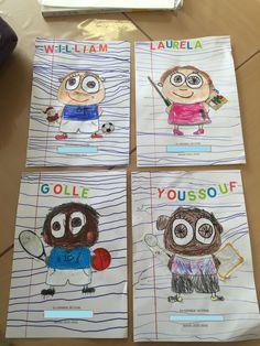 couverture cahier de vie à la manière d'Isabelle Kessedjian, la maternelle de Wendy