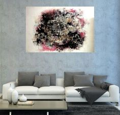 #Abstract City by Emine Bıyıklı | #artwork #resim #painting #kunst #modernart #artgallery #oilpainting #dekorasyon #design #dizayn #tasarım #stil #interiordesign