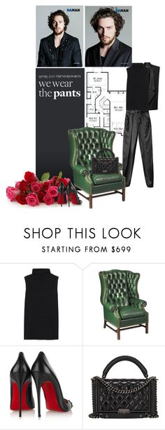"""""""WE WEAR THE PANTS"""" by tasa92 ❤ liked on Polyvore featuring Calvin Klein, The Row, Christian Louboutin, Chanel, christianlouboutin, balmain and turtleneck"""