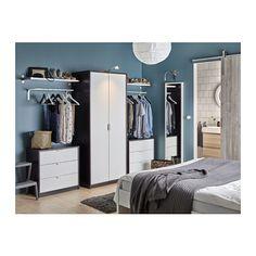 ASKVOLL Cassettiera con 3 cassetti - marrone-nero/bianco - IKEA