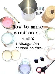 The best DIY projects & DIY ideas and tutorials: sewing, paper craft, DIY. Diy Candles Ideas How to make candles at home: 5 things I've learned so far - Ella Scribbles -Read Mason Jar Crafts, Mason Jar Diy, Velas Diy, Homemade Scented Candles, Diy 2019, Candle Making Business, Essential Oil Candles, Essential Oils, Candle Craft