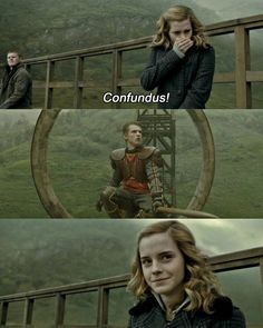 Remember when Hermione put the Confundus Charm on McLaggen so that Ron would become Gryffindor Keeper, even though he was dating Lavender at the time?~~~~~~~NO HE WASENT Harry Potter Tumblr, Harry James Potter, Harry Potter World, Mundo Harry Potter, Harry Potter Spells, Harry Potter Jokes, Harry Potter Pictures, Harry Potter Cast, Harry Potter Fandom