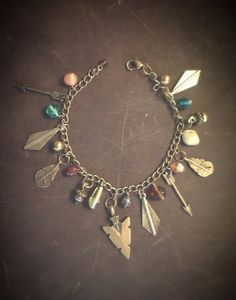 Bohemian Charm Bracelet  Bohemian Jewelry  by MoonflowerDaydream, $36.00
