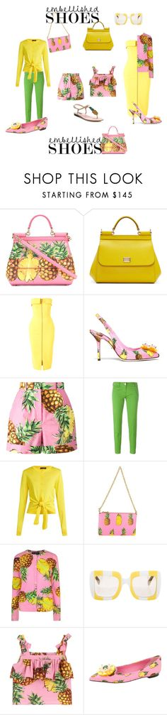 """""""Pineapple Dolce&Gabbana"""" by geonell ❤ liked on Polyvore featuring Dolce&Gabbana, Alex Perry and Jacob Cohёn"""