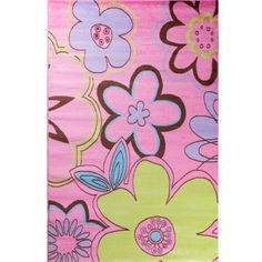 Concord Global Imports Alisa Groovy Flowers Kids Area Rug