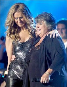 Céline Dion, our biggest star with Ginette Reno who maid her cry.