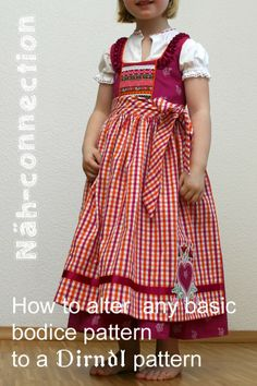 Näh-Connection: How to alter any basic bodice pattern to a Dirndl pattern