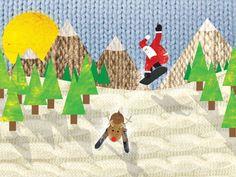 Cristmas cards snowboard