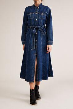 19fa46b9dc Won Hundred Women Lauren Denim Dress Dress 402 Medium Blue