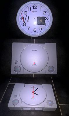 Bricolage geek perso : Création d'une horloge Playstation 1. Tuto en lien vers mon blog.