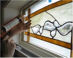 How to add stained glass to existing windows. Great description