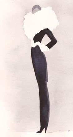 Fashion Illustration by Mats Gustafson (Swedish, b. 1951).