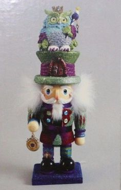"Kurt S. Adler Hollywood Collection 15"" Colorful Owl Hat Nutcracker #babescollectibles"