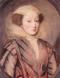 Elizabeth Vernon (1572-1655) was the Chief Lady-in-Waiting to Queen Elizabeth I. She was Countess of Southampton and wife of Henry Wriothesley.
