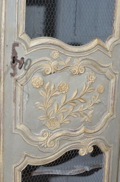 18th c. Painted Walnut Louis XV Armoire image 5