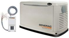 Generac Guardian Series 5871 Watt Air-Cooled Liquid Propane/Natural Gas Powered Standby Generator With Transfer Switch (CARB Compliant) (Older Model) (Discontinued by Manufacturer) Propane Generator, Diy Generator, Generators For Sale, House Generators, Natural Gas Generator, Portable Power Generator, Transfer Switch, Heating And Cooling, Home Depot