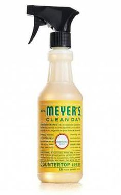 """Meyer's Clean Day Honeysuckle Countertop spray: Good for everything from wood floors to countertops to bathroom fixtures, this might be the cleaner you use most. Thankfully, its fruity floral scent is more """"relaxing spa."""" than """"teenybopper body mist"""" Cleaning Spray, Cleaning Hacks, Cleaning Supplies, Cleaning Carpets, Meyers Cleaning Products, Meyers Soap, Homekeeping, Household Cleaners, Smell Good"""