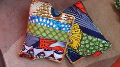 Ankara clutches with brass finish