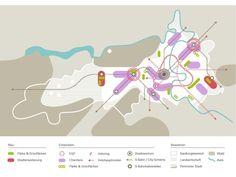 Bern, Traffic Analysis, Urban Analysis, Concept Diagram, Landscape Plans, Master Plan, Architecture Plan, Urban Planning, Urban Design