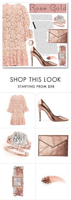 """rose gold"" by myduza-and-koteczka on Polyvore featuring moda, Valentino, Alexander Wang, Rebecca Minkoff, GUESS i NARS Cosmetics"
