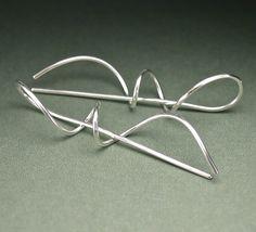 Locking+Spiral+Earrings+in+Sterling+Silver+by+artjeweldesigns,+$74.00