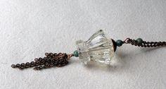 Unique Crystal Knob Necklace by SunshinesPush