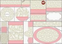 Provencal in Pink and Grey: Free Printable Candy Bar Labels.