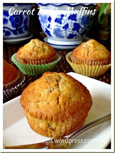 Carrot Raisin Muffins (红萝卜葡萄干小松饼)#guaishushu