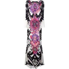 Emilio Pucci Suzani Print Maxi Dress