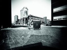 garbage bin pinhole camera image series by the trashcam project