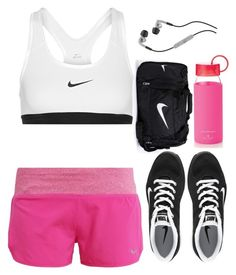 """There's no time for excuses."" by hungry-unicorn ❤ liked on Polyvore featuring NIKE, Kate Spade and Skullcandy"