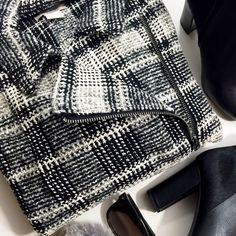 """Plaid Moto Sweater Jacket Details: • Size 1X • Asymmetrical zip • Pockets • Bust: 22.25"""" pit to pit • Length: 23.75"""" • Sleeves: 17"""" from pit to end • NWT   12211516 Lucky Brand Sweaters"""