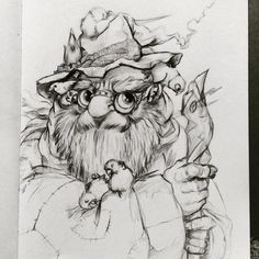 It is not easy to be birds papa😊❤️ #birds #budgies #parrots #parakeets #birdfathers #wizard #sorcerer #witch #shaman #wizardstick #magicwand #radagast #radagastthebrown #druid #sketchbook #characterdesign #oldwizard #fantasyart #steampunkgoggles #pointyhat #drinkanddrawizmir #drinkanddraw #magic