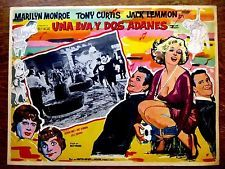 SOME LIKE IT HOT Orig Mexican Lobby Card MARILYN MONROE JACK LEMMON TONY CURTIS