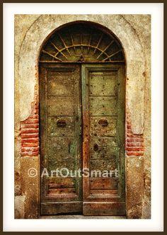 Rome Italy - Old Italian Door, Color or Black & White, Italy Rome Photography, Italy Wall art Decore, Rome Photo. $27.00, via Etsy.