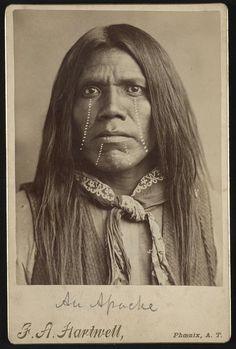 An Apache. Photo by F.A. Hartwell, Phoenix, AZ. 1880-1890.