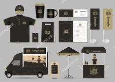 corporate branding identity mock up template for coffee shop and. coffee shop and restaurant ident Coffee Shop Branding, Coffee Logo, Coffee Menu, Web Design, Food Design, Layout Design, Corporate Branding, Branding Design, Food Truck Business