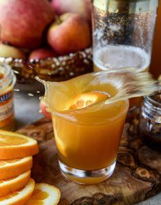 Cider Bourbon Jam Cocktails. (with ginger beer!)
