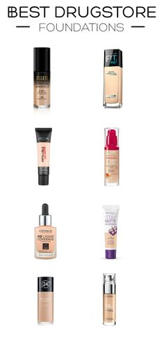 On the hunt for the perfect foundation that won't break the bank? I got you covered! On the blog today, I've rounded up 8 of the best foundations you can get at the drugstore, for all skin types, including oily skin, dry skin & combination skin. Keep scrolling to see what they are! Milani Conceal + Perfect 2-in-1 Foundation + Concealer Maybelline Fit Me Matt + Poreless Foundation L'Oréal Paris Infallible 24H Matt Foundation Bourjois Healthy Mix Foundation Catrice HD Liquid Cov...