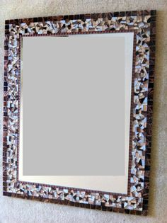 Mosaic Wall Mirror  Large Mosaic Mirror  by GreenStreetMosaics, $100.00