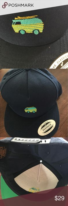 Yupoong Hat Cap SnapBack Van with Surfboards SnapBack Hat Yupoong Van With Surfboards On Top Snap Back New The Classics New with stickers intact snap back hat made by Youpoong Classic style  Logo is a van with two surfboards on top. Comes from a smoke free environment.  Fast and reasonable shipping. If you like this item please check my store for other similar items. Accessories Hats