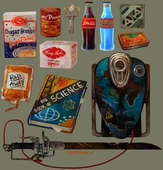 My favorite weapon, drink and cereal Fallout Fan Art, Fallout Concept Art, Fallout Game, Fallout New Vegas, Cyberpunk City, Arte Cyberpunk, Apocalypse World, Game Props, Retro Futuristic