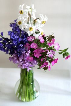 Love the different purples. I'd probably ditch the white flowers, although I do like them.