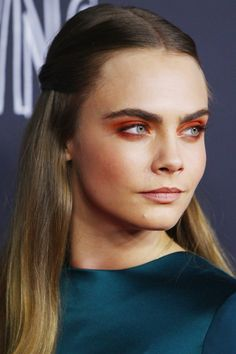 feelunique Makeup Magpie Summer Beauty Look Number 7 - Taking inspiration from Cara Delavigne's Orange Eyeshadow Look, with subtly bronzed cheeks and a matte mid/dark nude lipstick