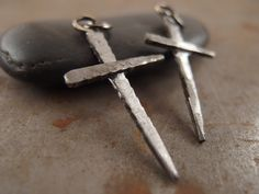 Raw Cross Antique Nails Handmade Necklace Jewelry for by Trijoux