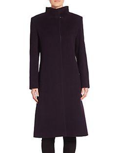 Cinzia Rocca - Wool Blend Long Sleeve Coat