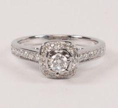 14K WHITE GOLD DIAMOND BRIDAL RING