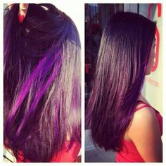 Violet red with neon purple peek a boos.